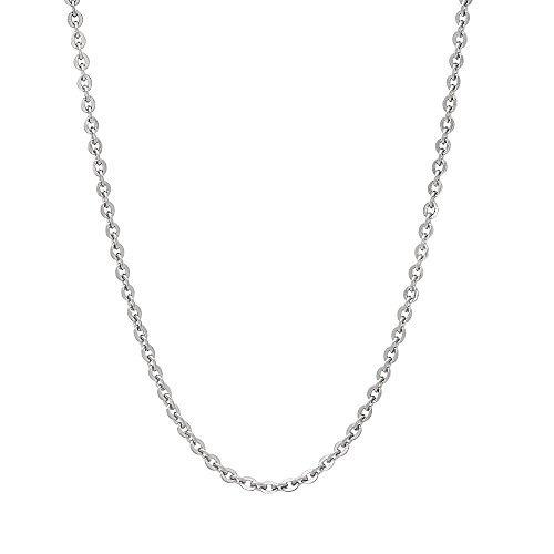 collar de cadena de cable de plata esterlina de 2 mm maikedi