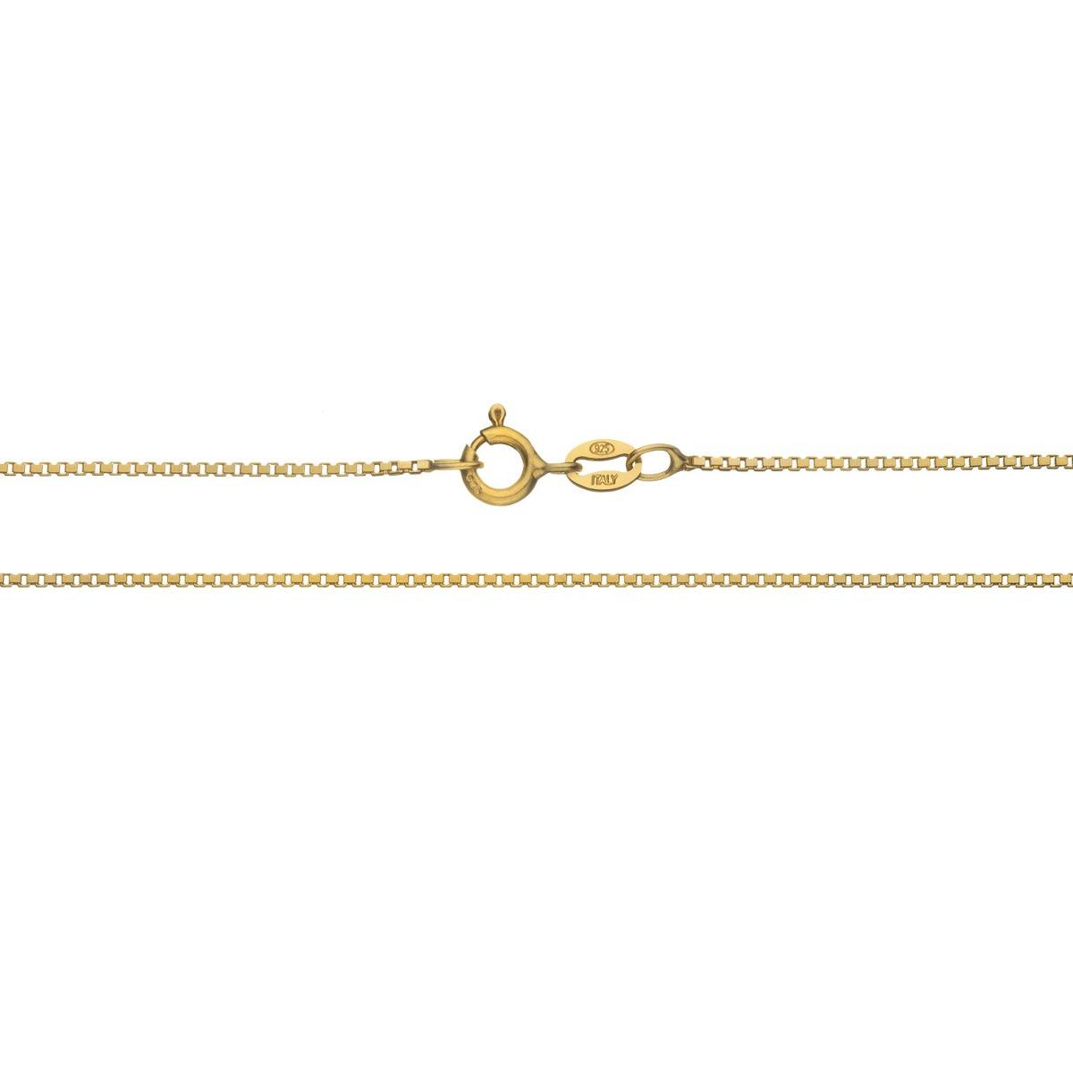 1bc61cb7efec Collar De Cadena De Caja Italiana Delgada De Oro De 18q S -   90.900 ...