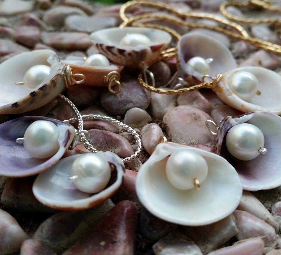 Collar De Concha De Mar Con Perla 42000 En Mercado Libre - Fotos-de-conchas-de-mar