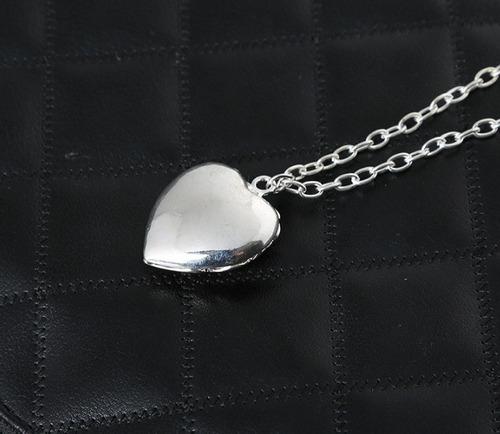 collar de corazón luminoso brilla en obscuridad regalo novia