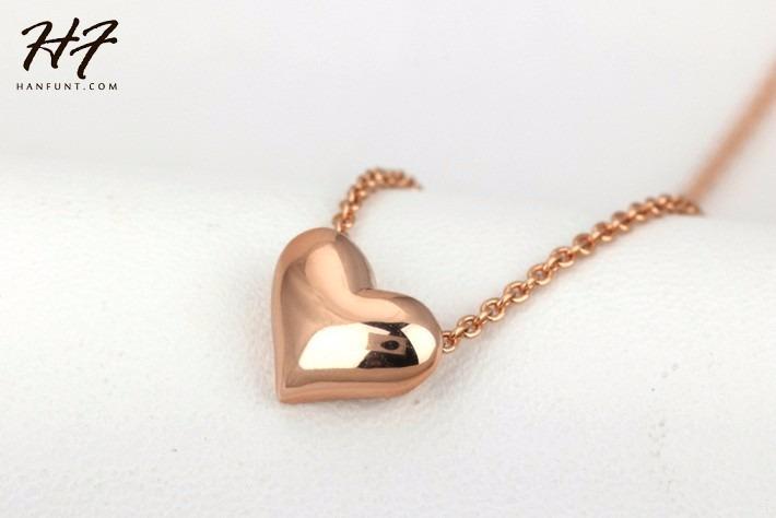 nuevo concepto 847bc 8230c Collar De Corazon Oro 18k Amor Regalo