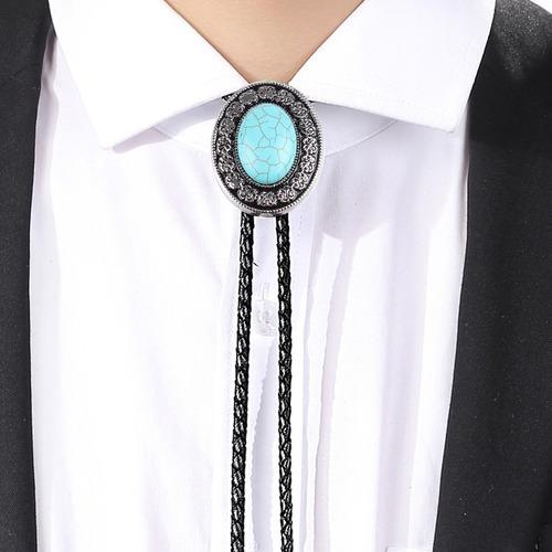collar de corbata bolo estilo vaquero occidental vintage