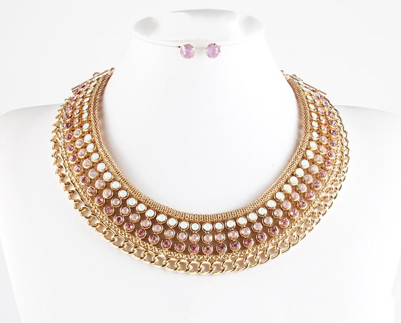 ca629f6d3854 Collar De Cristal Cuello Circular Bisutería Moda Importada ...
