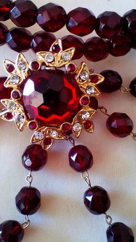 collar  de cristal swarovski legítimo.