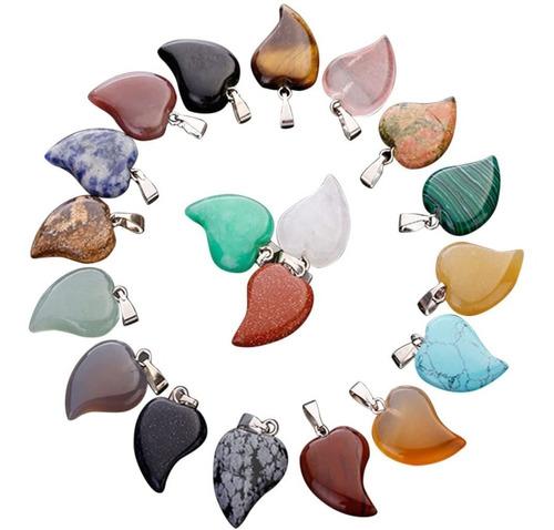 collar de cuarzo de piedra natural dije colores - variedad