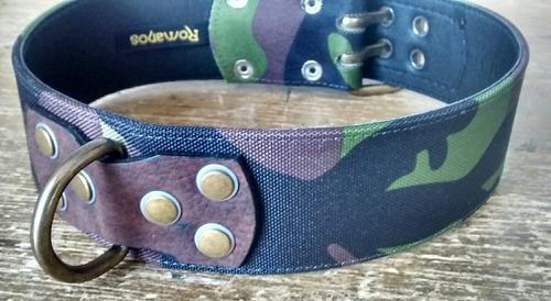 collar de cuero con diseño camuflado - todas las tallas.
