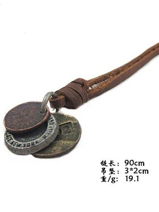 b523365b2e37 Collar De Cuero Para Hombres - S  35