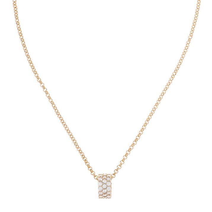 ec72b50b60e7 Collar De Dama Baño De Oro Con Cristales Nice 119037 -   469.00 en ...