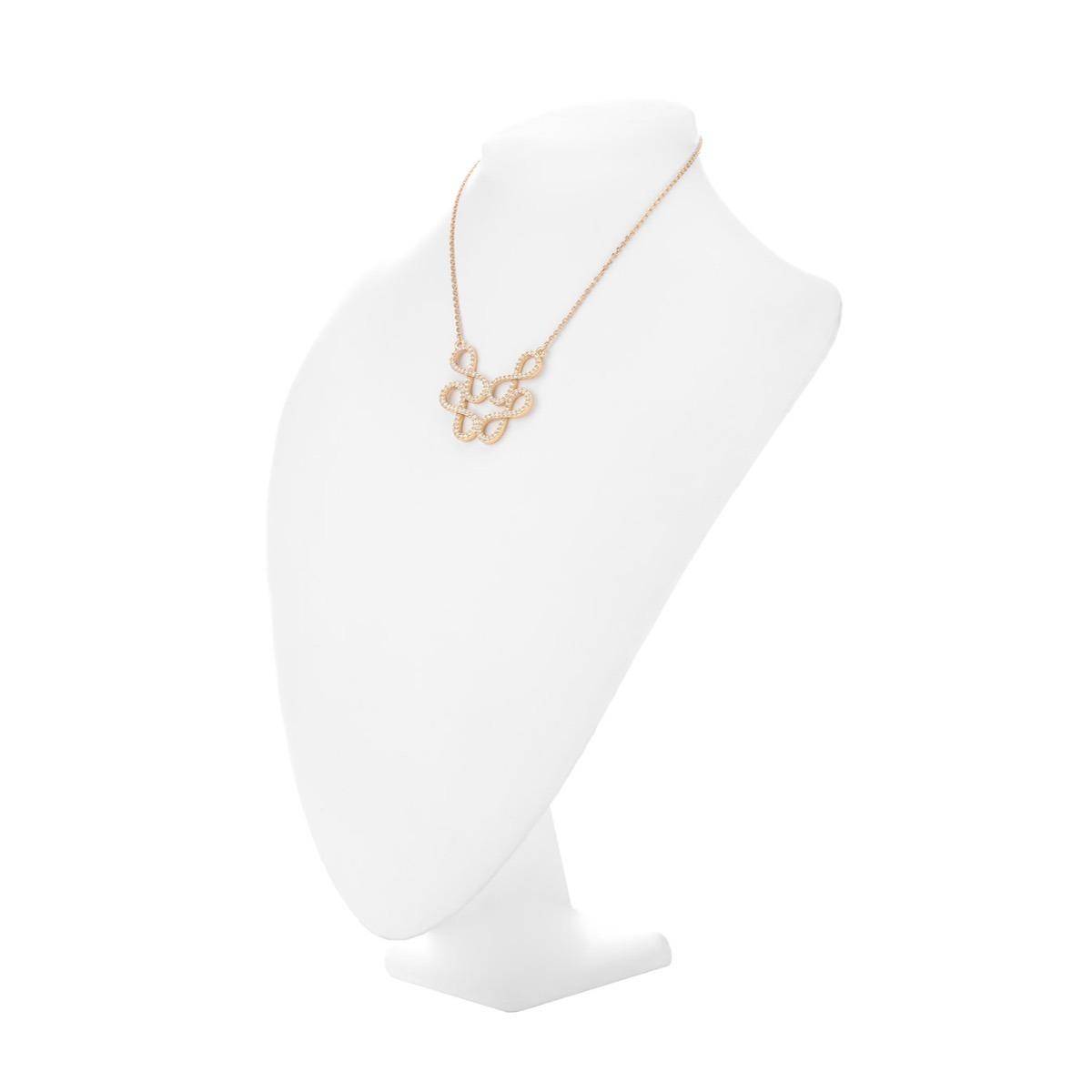 0442799af08f collar de dama con baño de oro 18k y cristales nice 218043. Cargando zoom.