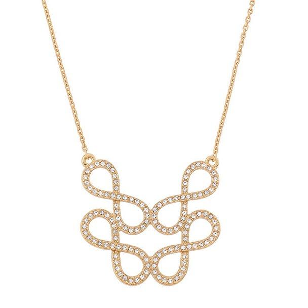 9183e834d39d Collar De Dama Con Baño De Oro 18k Y Cristales Nice 218043 ...