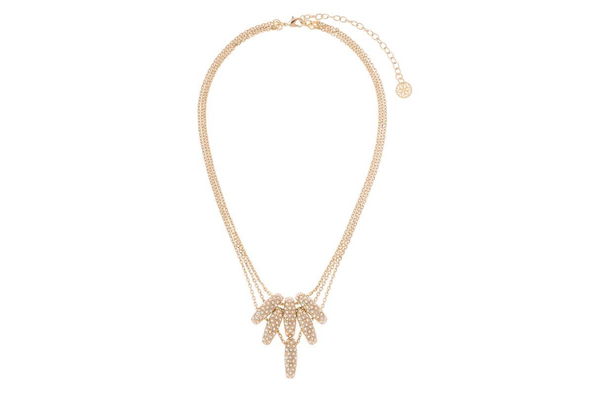 a567a8f129c1 Collar De Dama Con Baño De Oro Y Cristales Nice 119032 -   620.00 en ...