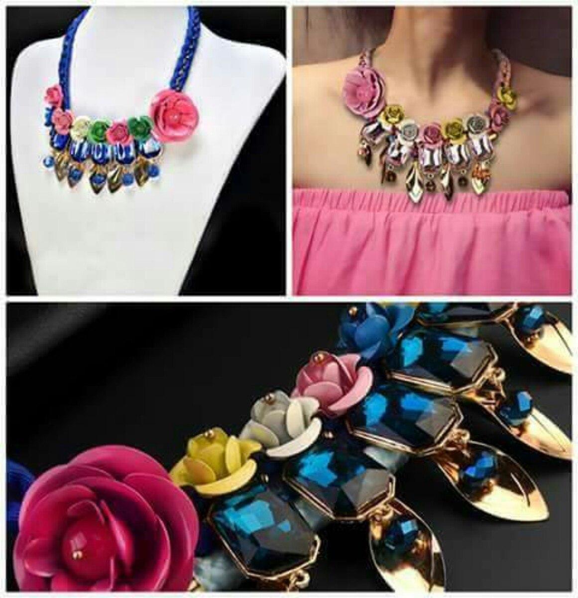 10c36c0a529c Collar De Flores De Moda Accesorios Bisuteria Regalo Dama -   179.00 ...