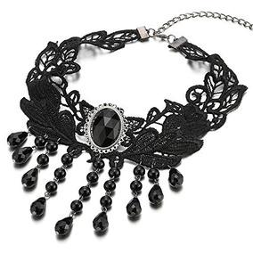 f0da40426883 Collar Negro Encaje Collares - Joyería en Mercado Libre Colombia