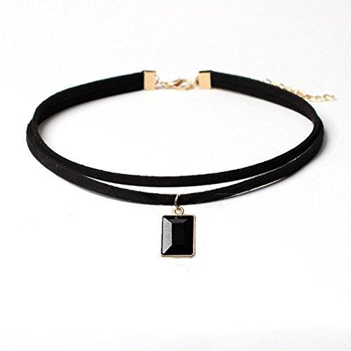ca9b55bb2ef3 Collar De Gargantilla De Terciopelo Negro Elástico Collares ...