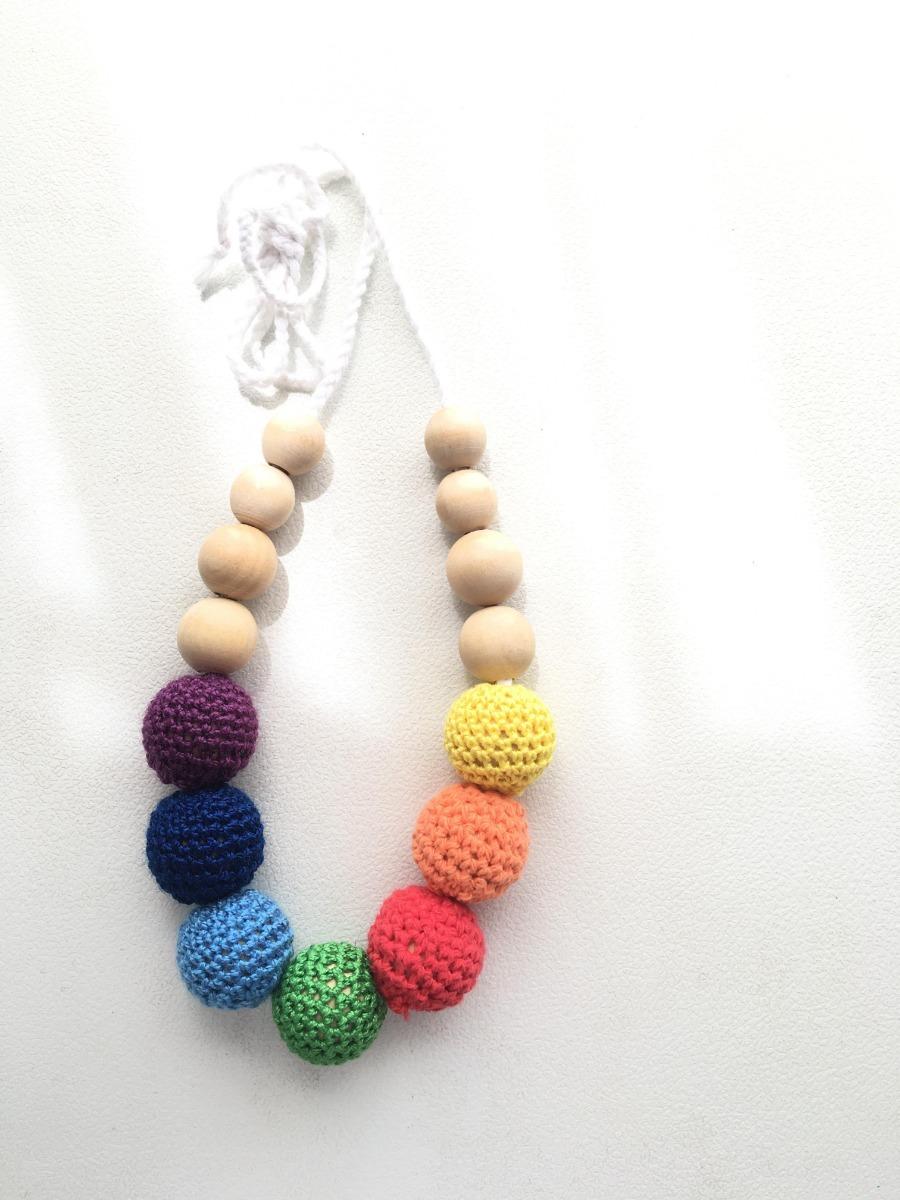 Collar De Lactancia Crochet Artesanal Porteo Bebe - $ 850,00 en ...