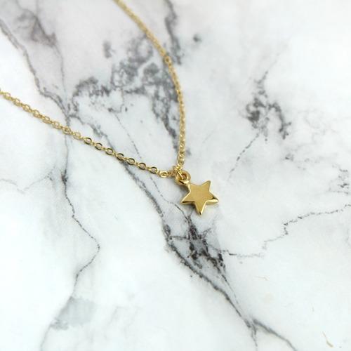 collar de luna y estrella chapa de oro de 22k + envió gratis
