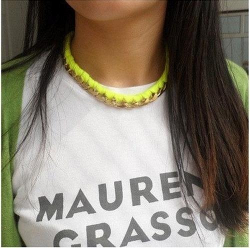collar de moda entre lazado casual en variados colores