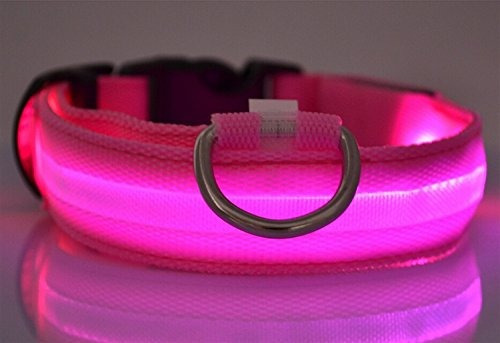 collar de nylon led liroyal perro de la seguridad noch u12