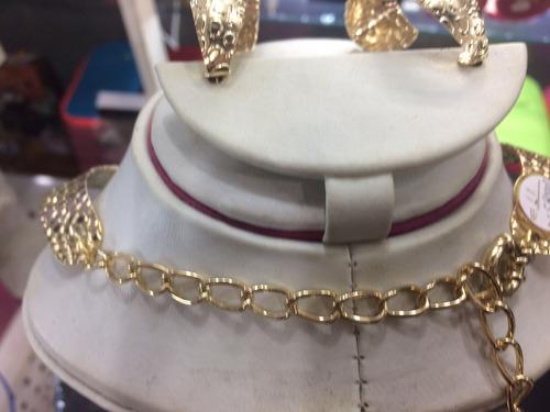 collar de oro laminado fashion moda gargantilla grueso