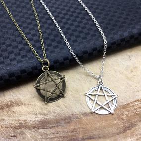 b99417be7c43 Collar De Pentagrama Goth Dark Gotico Rockero Satan Hail