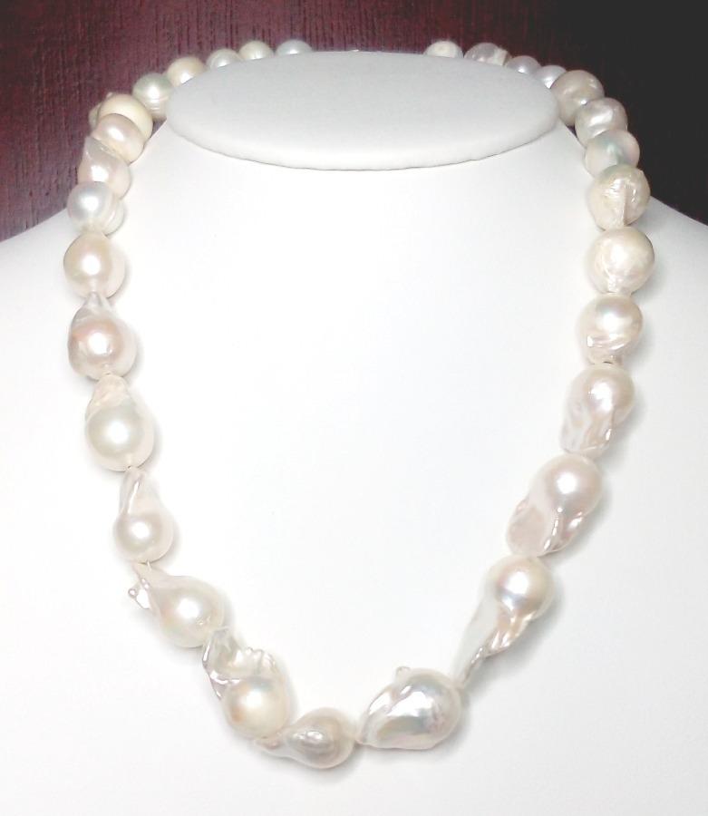 f87dc1a44dee Collar De perla Natural Barroca Del Mar Del Sur A031 -   2