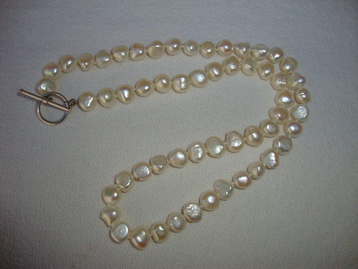 8ddfe490d11a collar de perlas barrocas cierre de plata. Cargando zoom.