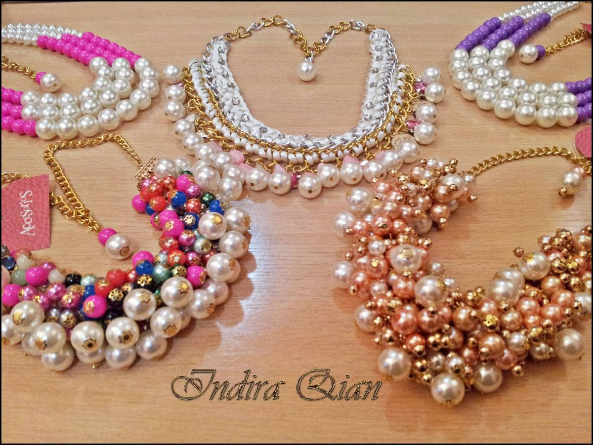 collar de perlas blancas 2016