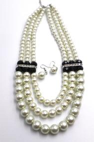 2db15a762f45 Bisuteria Fina Collar Perlas Grandes - Joyería en Mercado Libre México