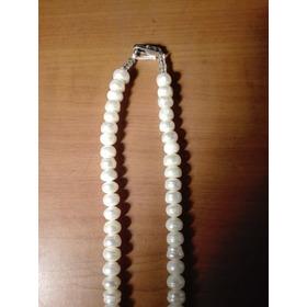 Collar De Perlas De Cultivo Y Jade.