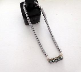 99ed36dcfa9f Collar De Perlas Grises en Mercado Libre Argentina