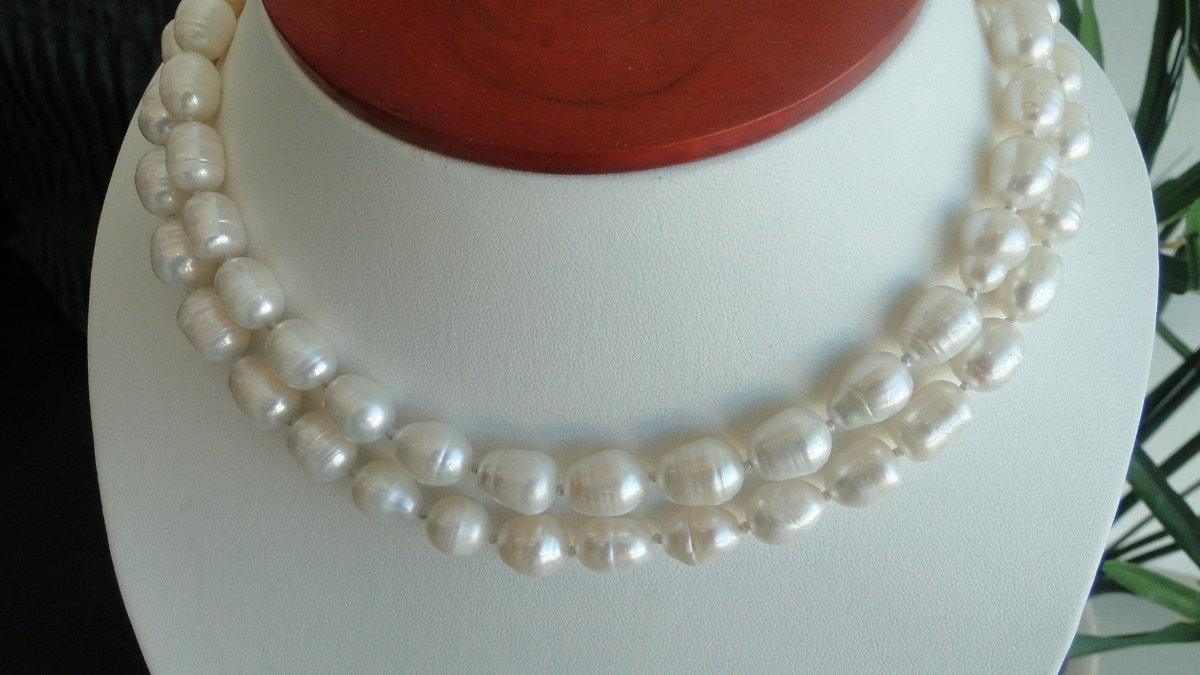 precio competitivo mejor baratas calidad autentica Collar De Perlas Naturales Rice Envio Gratis!
