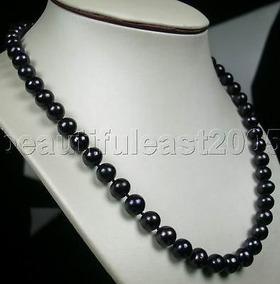 36948621d162 Bellisimo Collar De Perlas Negras Collares Cadenas - Joyería en Mercado  Libre México