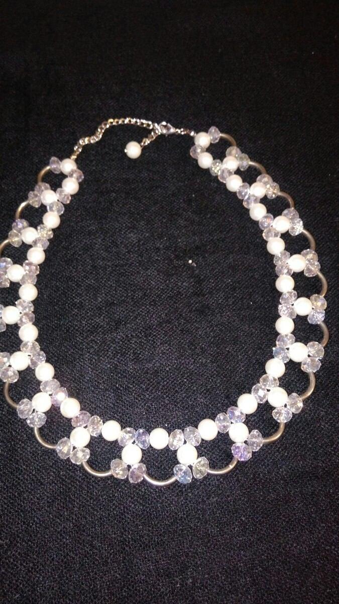 459e1ec0c12c collar de perlas y mostacillas facetas tipo cristal. Cargando zoom.