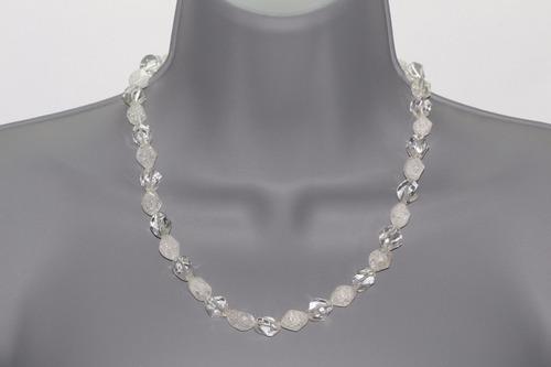 collar de piedra cuarzo estrellado y cuarzo cristal ccpn535