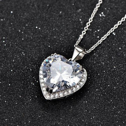 collar de piedra de nacimiento collar de plata esterlina lov