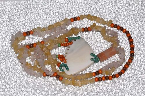 collar de piedra natural cuarzo y ágata ccpn594