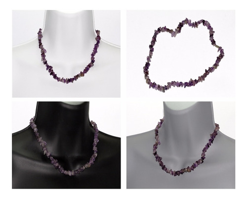 collar de piedra natural joyería moda dama amatista ccpn615