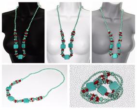 b54406810ac9 Collar De Piedras Preciosas Turquesa - Joyas y Relojes en Mercado Libre  México