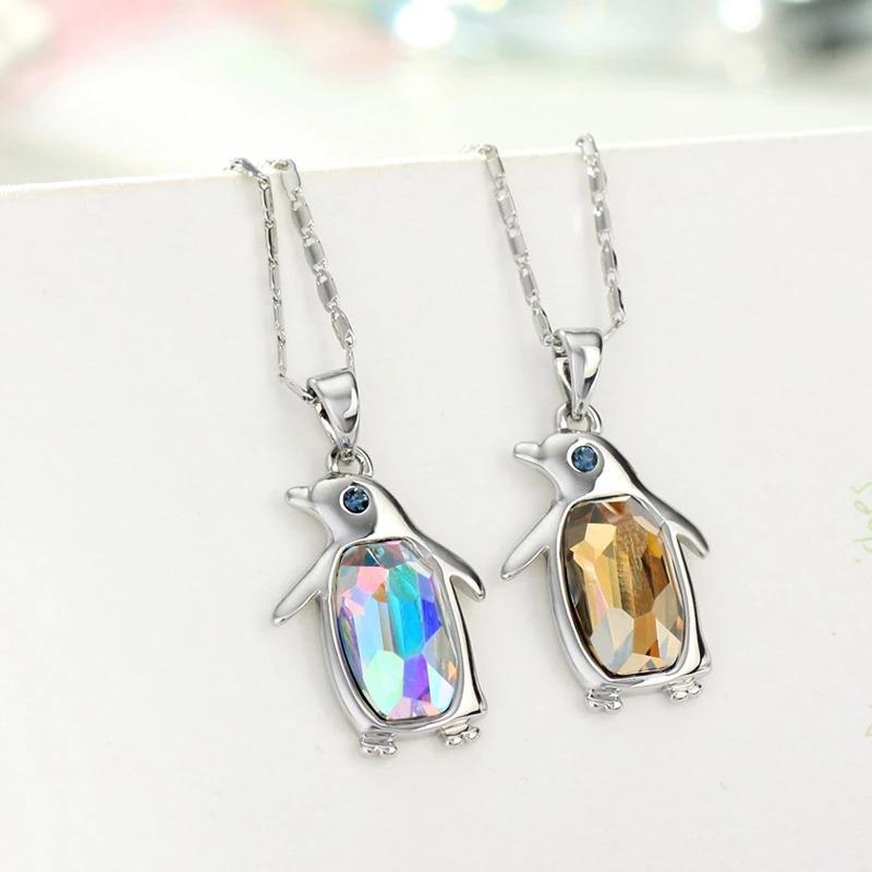 al por mayor en línea varios diseños precio bajo Collar De Pinguino Swarovski En Platino Envio Gratis.