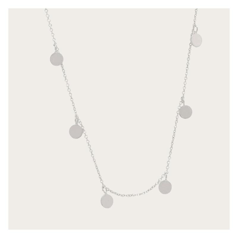 06c7e4d0a830 Collar De Plata Con Círculos   Mujer -   1
