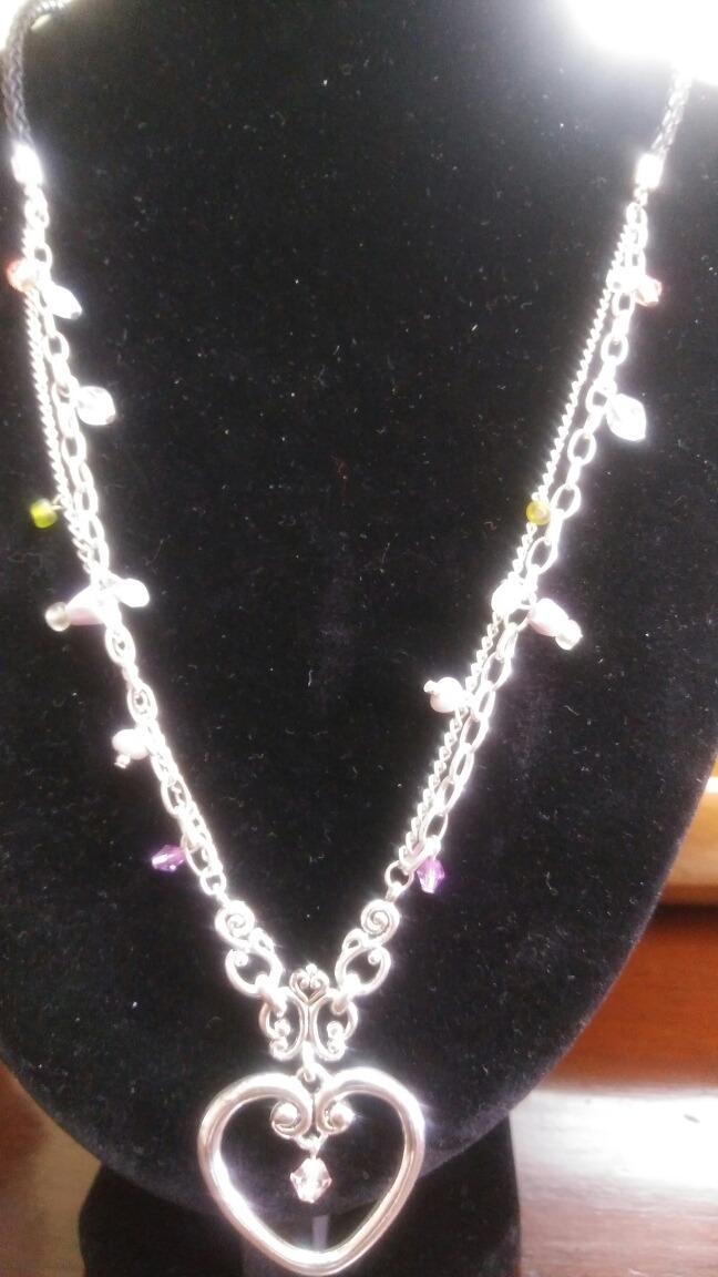 b1b545b16c67 Collar De Plata, Cuarzos Y Piel. Finamente Trabajado