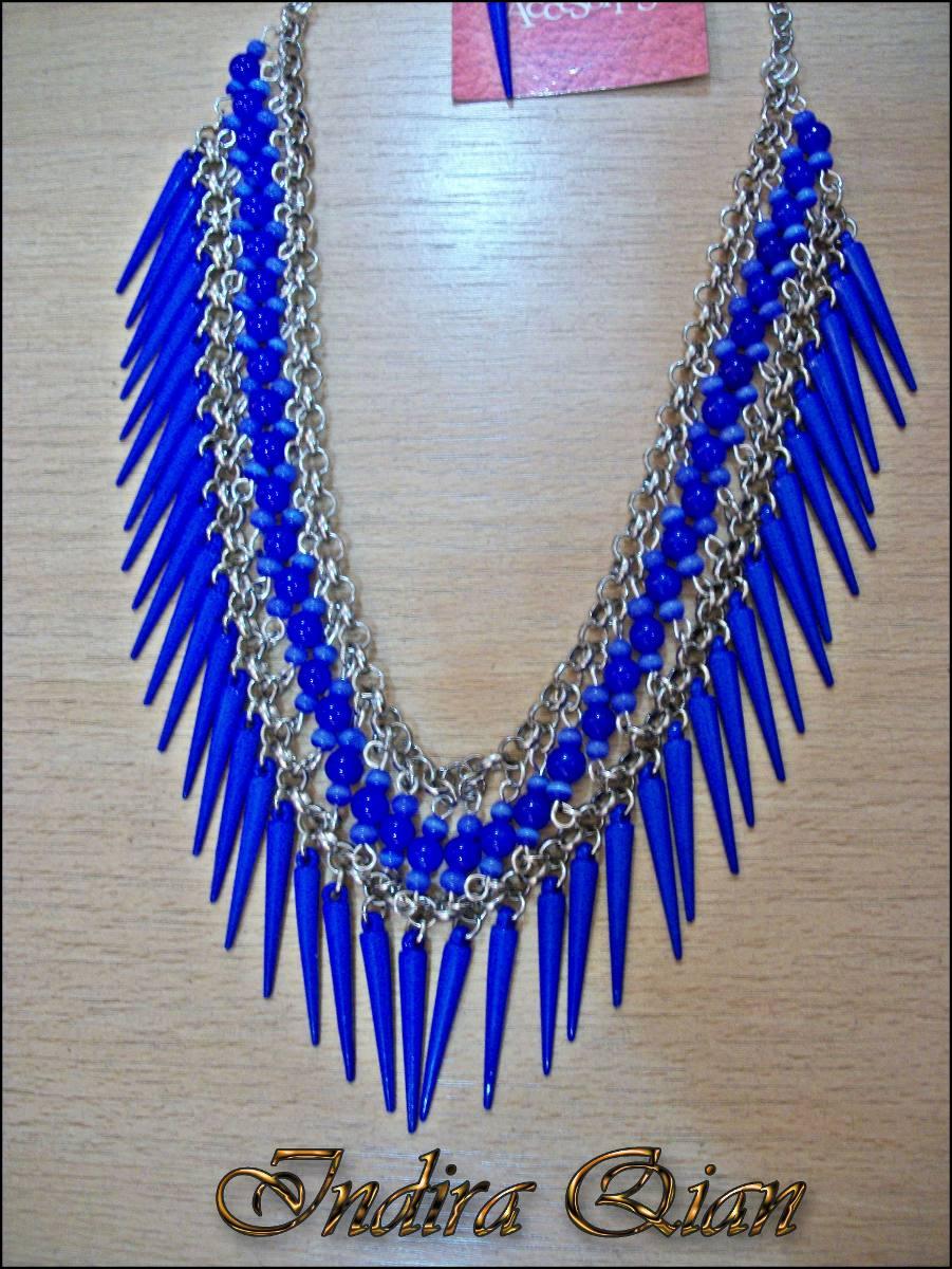 f621fbf3e Collar De Púas Azul Eléctrico. Ac - $ 350,00 en Mercado Libre