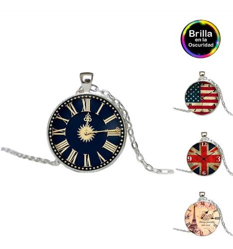 collar de reloj + brilla en la oscuridad