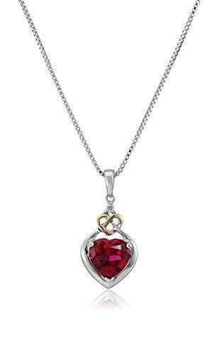 a295868e48a6 Collar De Rubíes Con Diseño De Corazón Y Diamantes En Forma ...