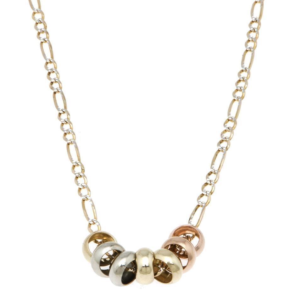 dba02c785702 collar de tres eslabones por uno en oro amarillo d-123528506. Cargando zoom.