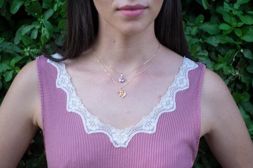 collar de unicornio en chapa de oro de 22k + envió gratis