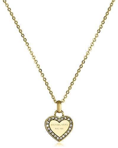 mejor selección a6c18 5fa6a Collar Del Corazón Del Oro De Michael Kors Del !