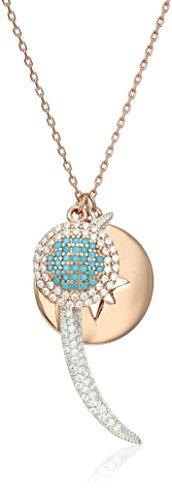 collar delicado lucky brand moon charm, 30 -inch+ 1-inch ext
