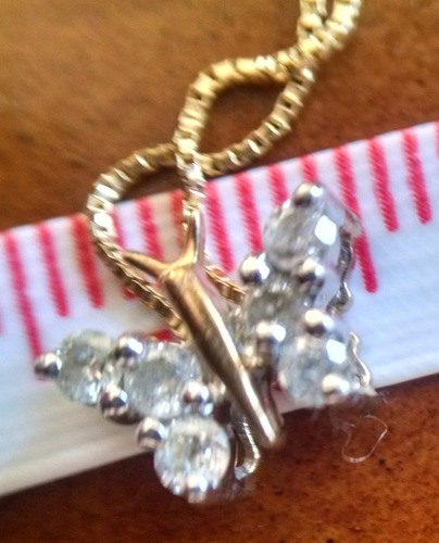 collar diamantes oro