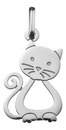 collar dije cadena gato  plata 950